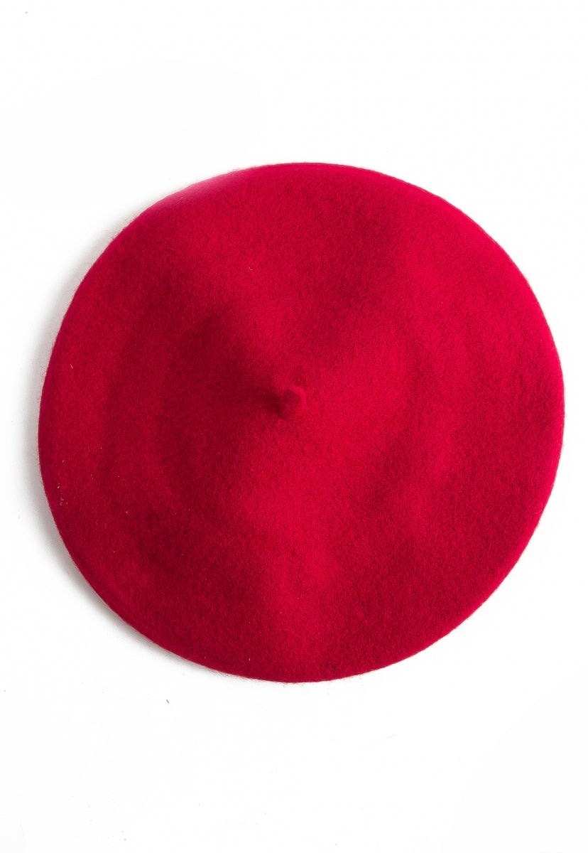 Amour Beret in Red - Hat & Hair - Wetseal