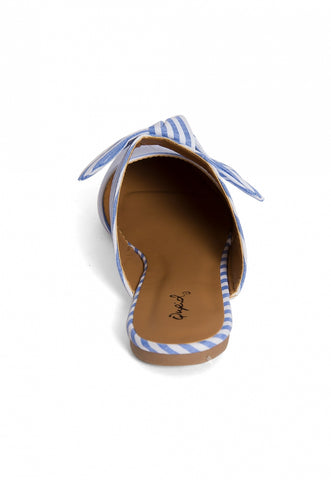 Shore Stripe Mule Flats