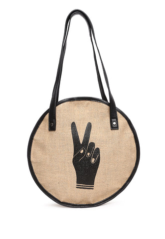 Peace Out Circle Tote Bag