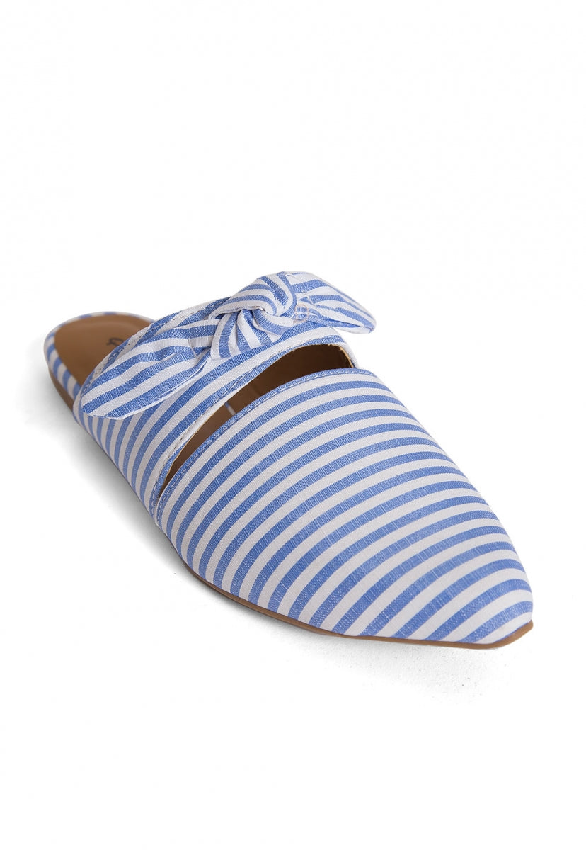 Shore Stripe Mule Flats - Shoes - Wetseal
