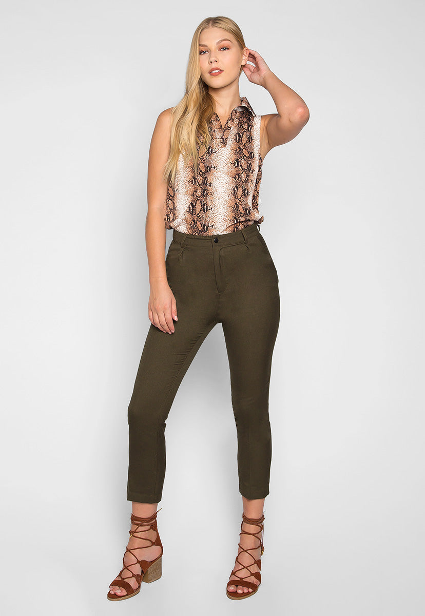Accidentally Pretty Pleat Front Pants in Green - Pants - Wetseal