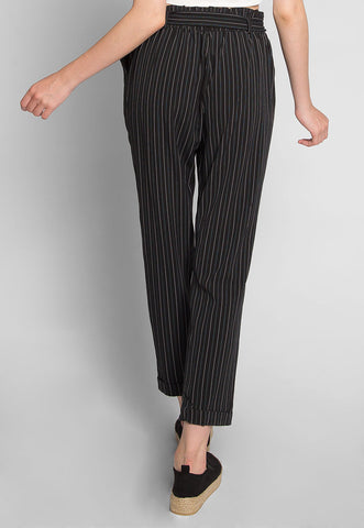 Pretty Things Paper Waist Pants in Black