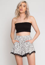 Perfect View High Waist Shorts in White