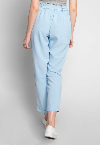 Pretty Things Paper Waist Pants in Light Blue
