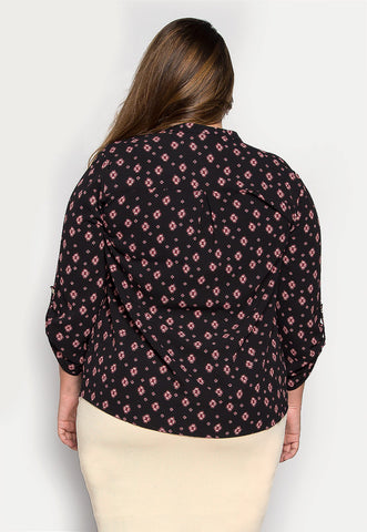 Plus Size Pretty Woman Boho Printed Blouse