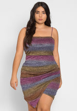 Plus Size Metallic Party Dress