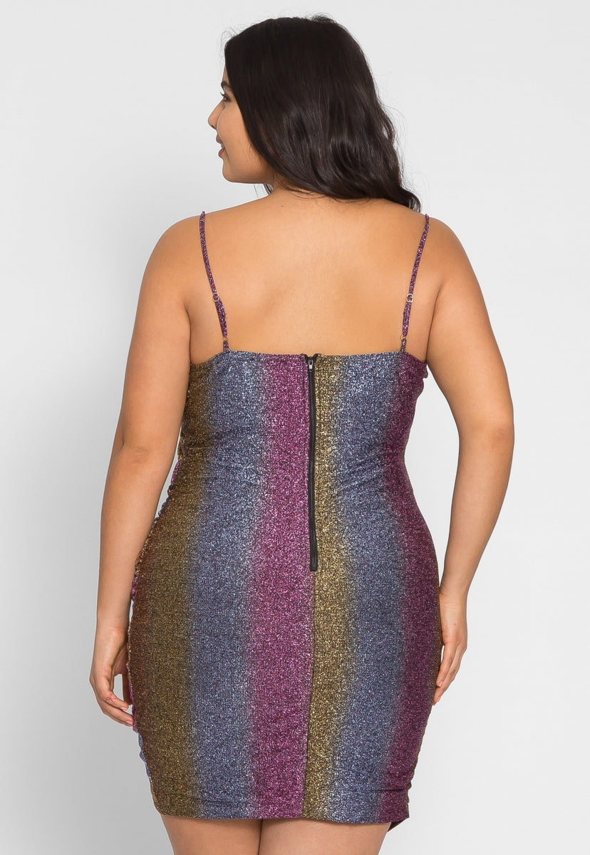 Plus Size Metallic Party Dress - Plus Dresses - Wetseal