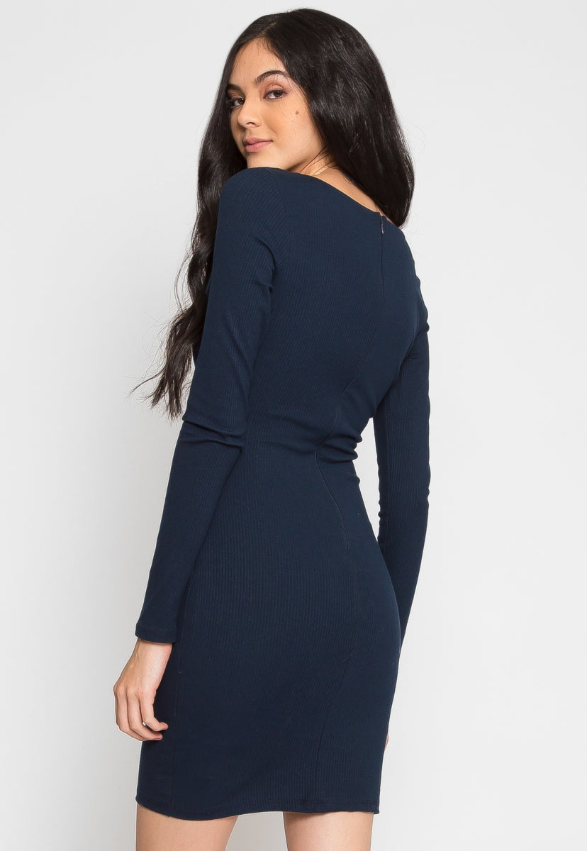 Dancefloor Fitted Dress - Dresses - Wetseal