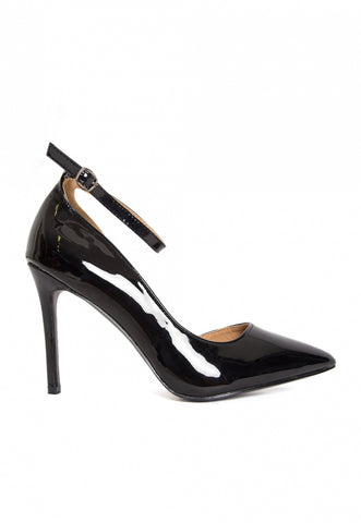 Daredevil Patent Leather Ankle Strap Heels