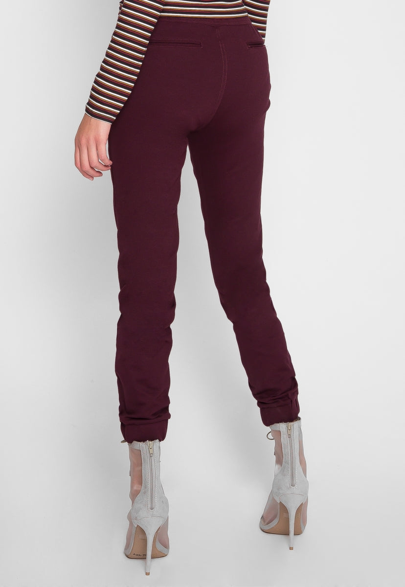 Revolver Woven Joggers in Burgundy - Pants - Wetseal