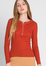 Tundra Thermal Henley Top in Copper