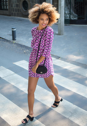 Quirky Geometric Printed Dress