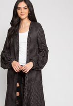 Park Avenue Windowpane Longline Cardigan