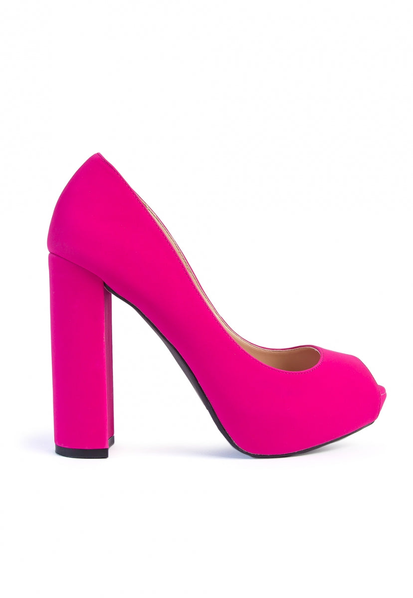 Statement Open Toe Block Pump Heels - Shoes - Wetseal