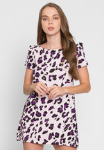Wild Child Cheetah Tunic Dress in Lilac