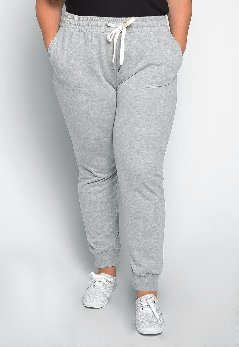 Plus Size So Good Sweatpants in Gray - Plus Bottoms - Wetseal