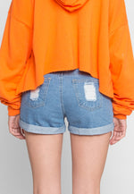 Altas Drawstring Denim Shorts