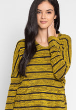 Stowe Stripe Hoodie in Yellow