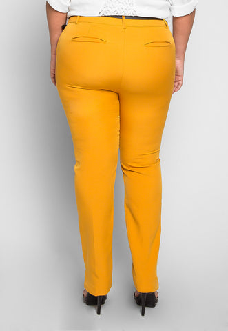 Plus Size Maracuya Belted Pants