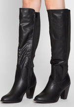 Demi Faux Leather Heel Boots