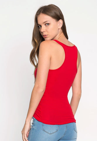 California Basic Tank Top in Red