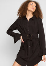 The Woodlands Shirt Dress in Black