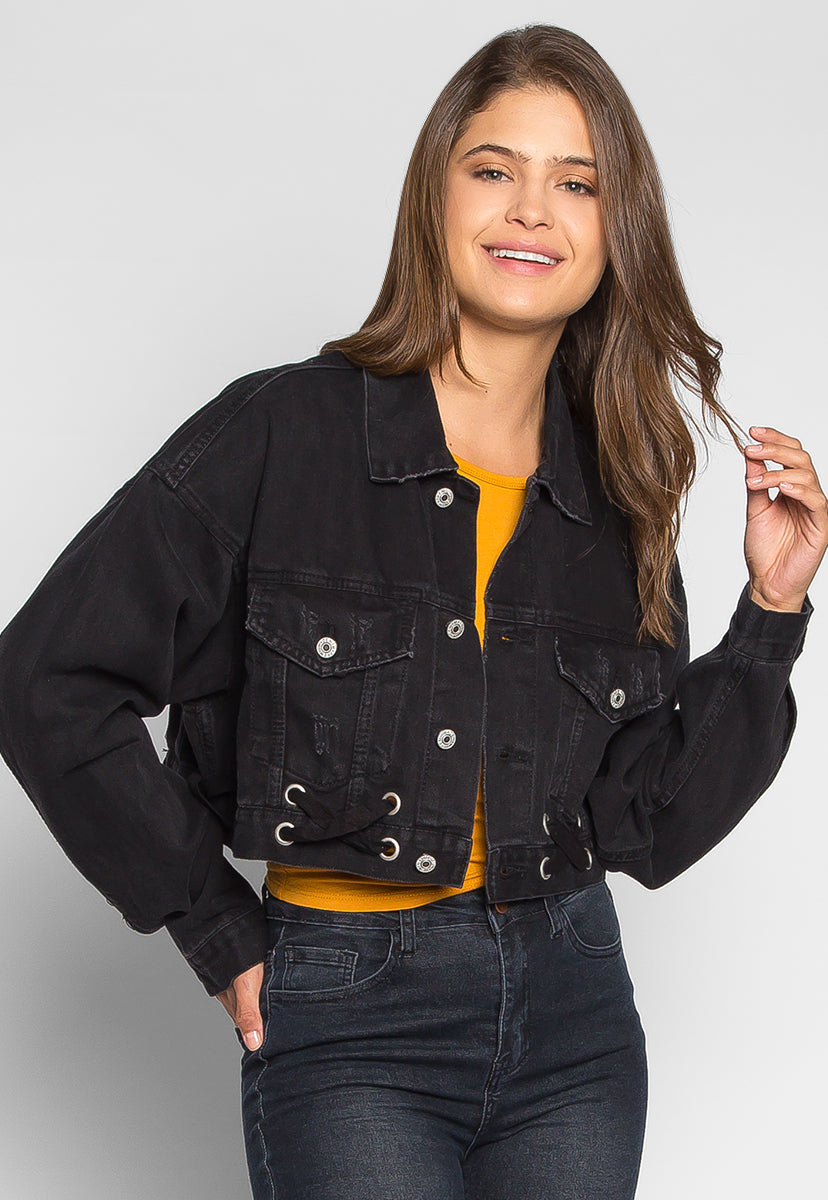 Moonlight Crop Denim Jacket - Jackets & Coats - Wetseal