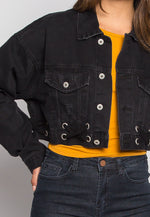 Moonlight Crop Denim Jacket