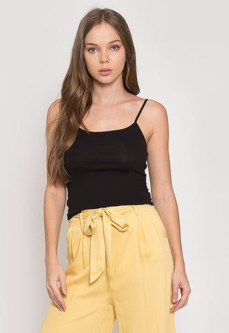California Basic Cami Top in Black