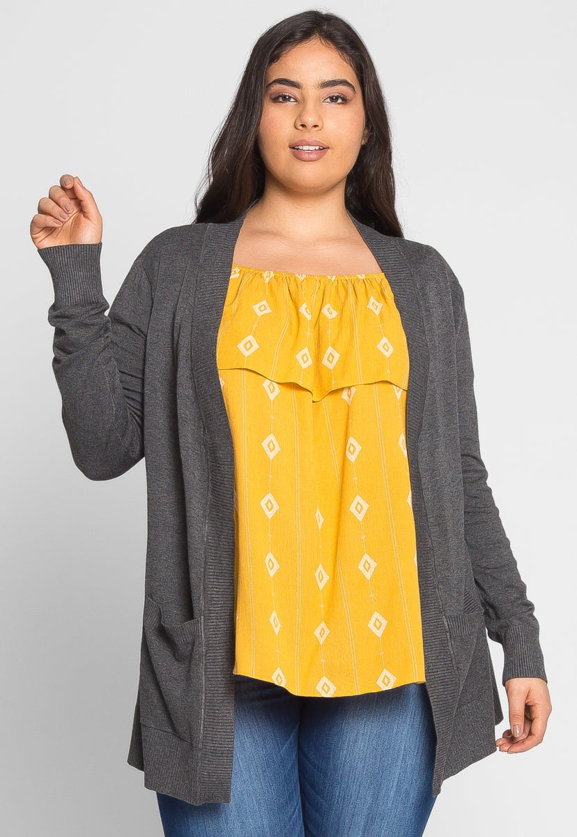 Plus Size Breezy Knit Cardigan - Plus Outerwear - Wetseal