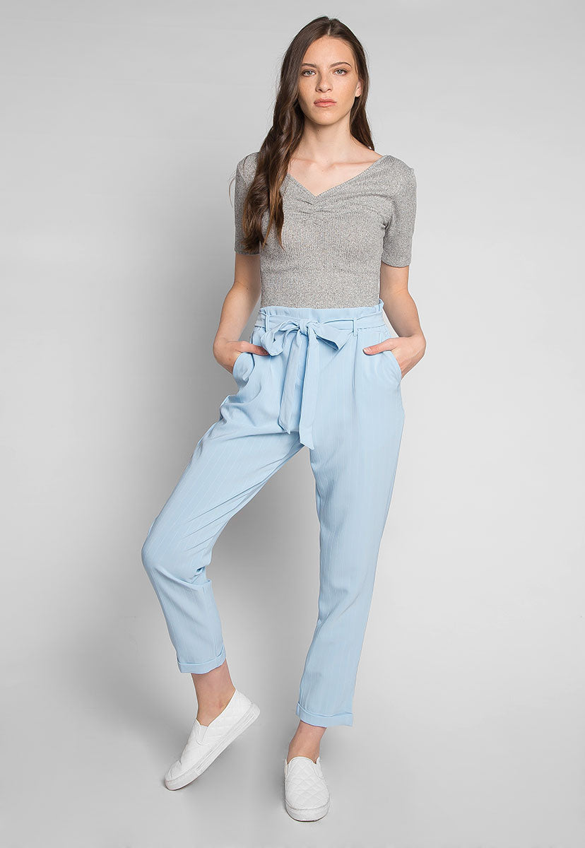 Coffee Break Heathered Top in Gray - Crop Tops - Wetseal
