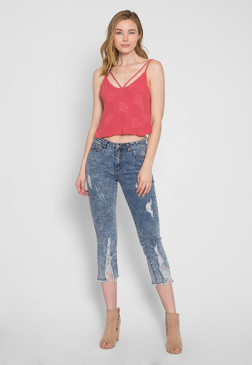 Newport Floral Crop Tank Top - Tanks - Wetseal