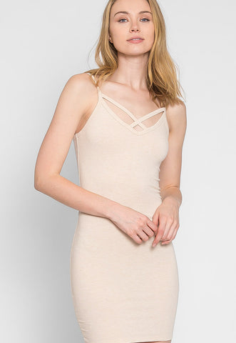 Day Out Knit Bodycon Dress in Beige