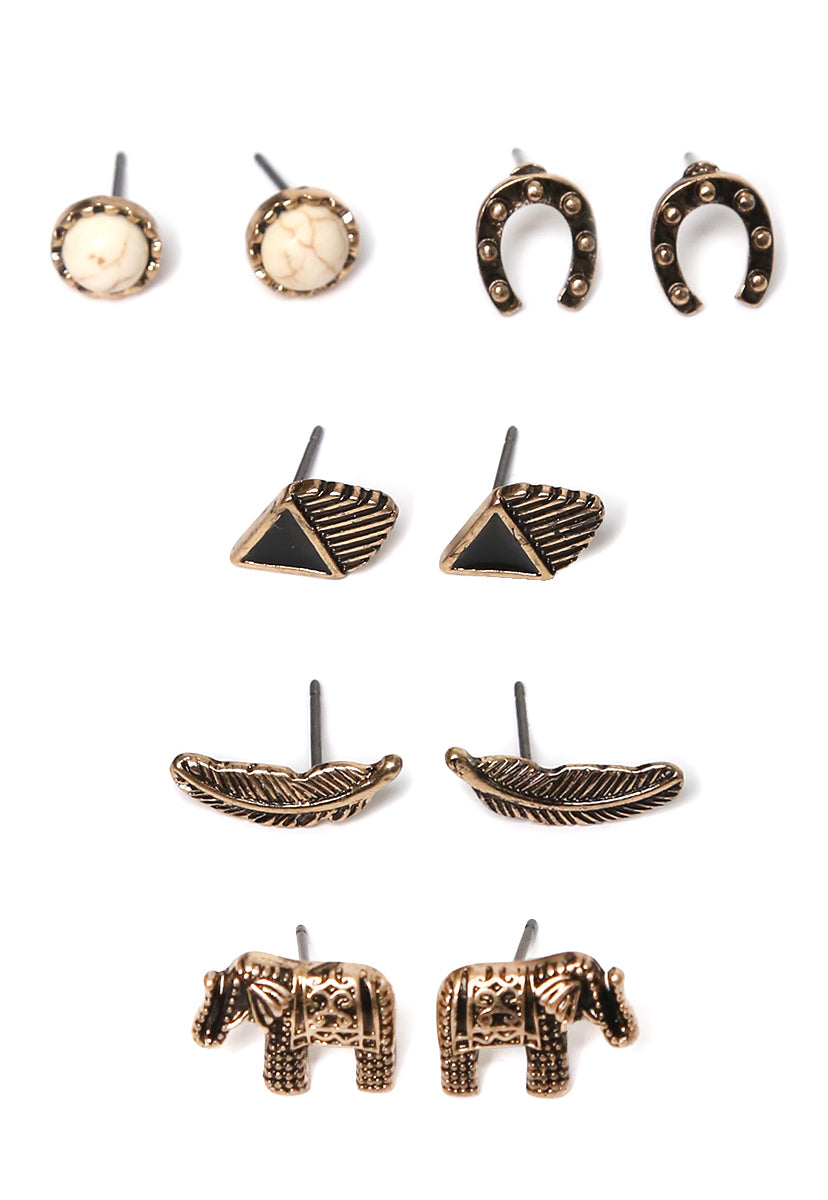 Spirit Traveler Earring Set - Jewelry - Wetseal