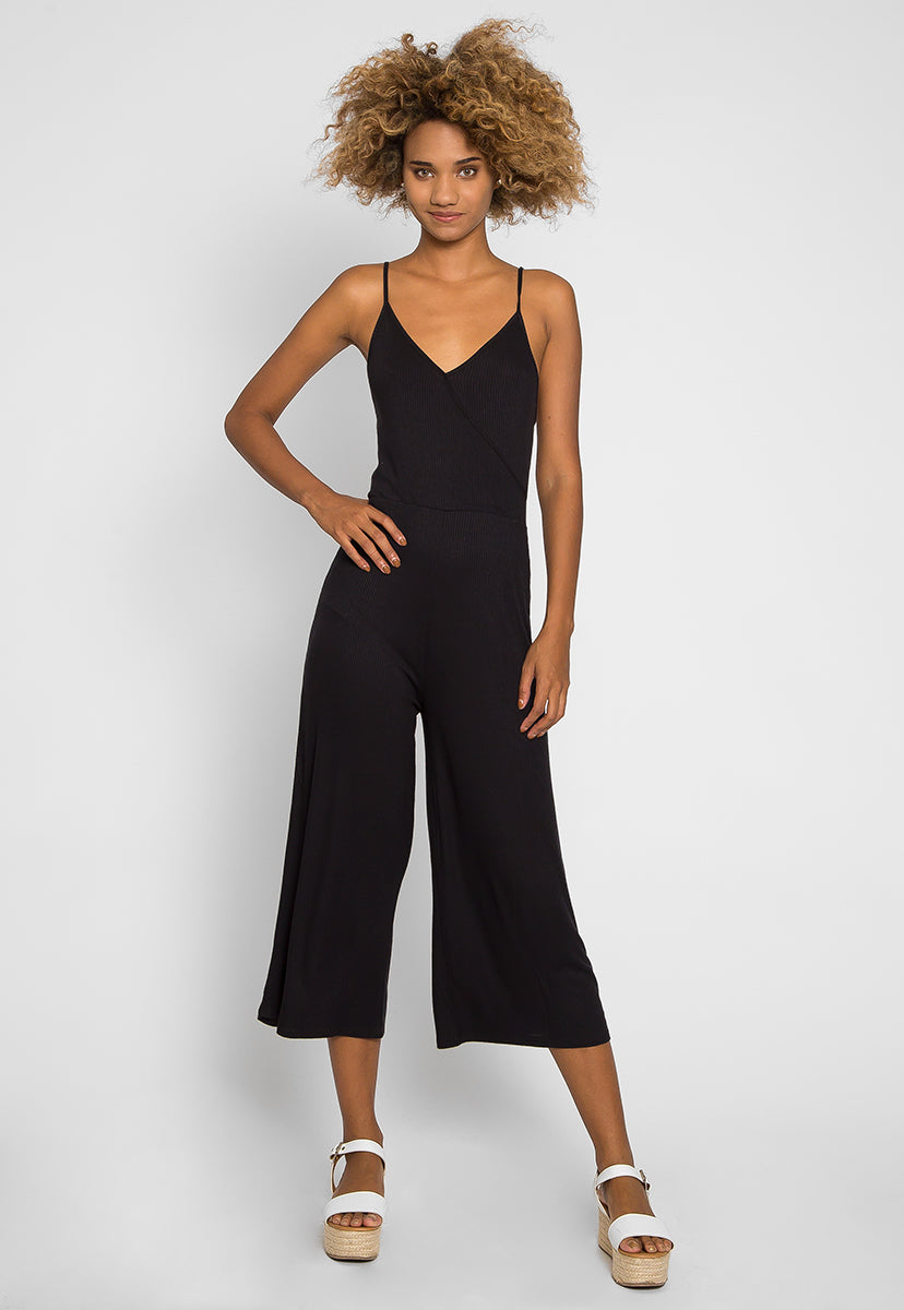 Visor Wide Leg Sleeveless Jumpsuit - Rompers & Jumpsuits - Wetseal