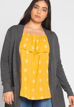 Plus Size Breezy Knit Cardigan