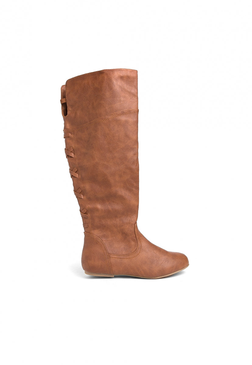 Sinclair Faux Leather Boots - Shoes - Wetseal