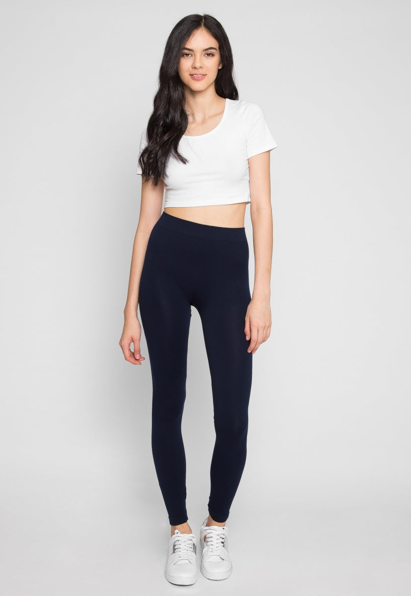 Mist Basic Leggings in Navy - Pants - Wetseal