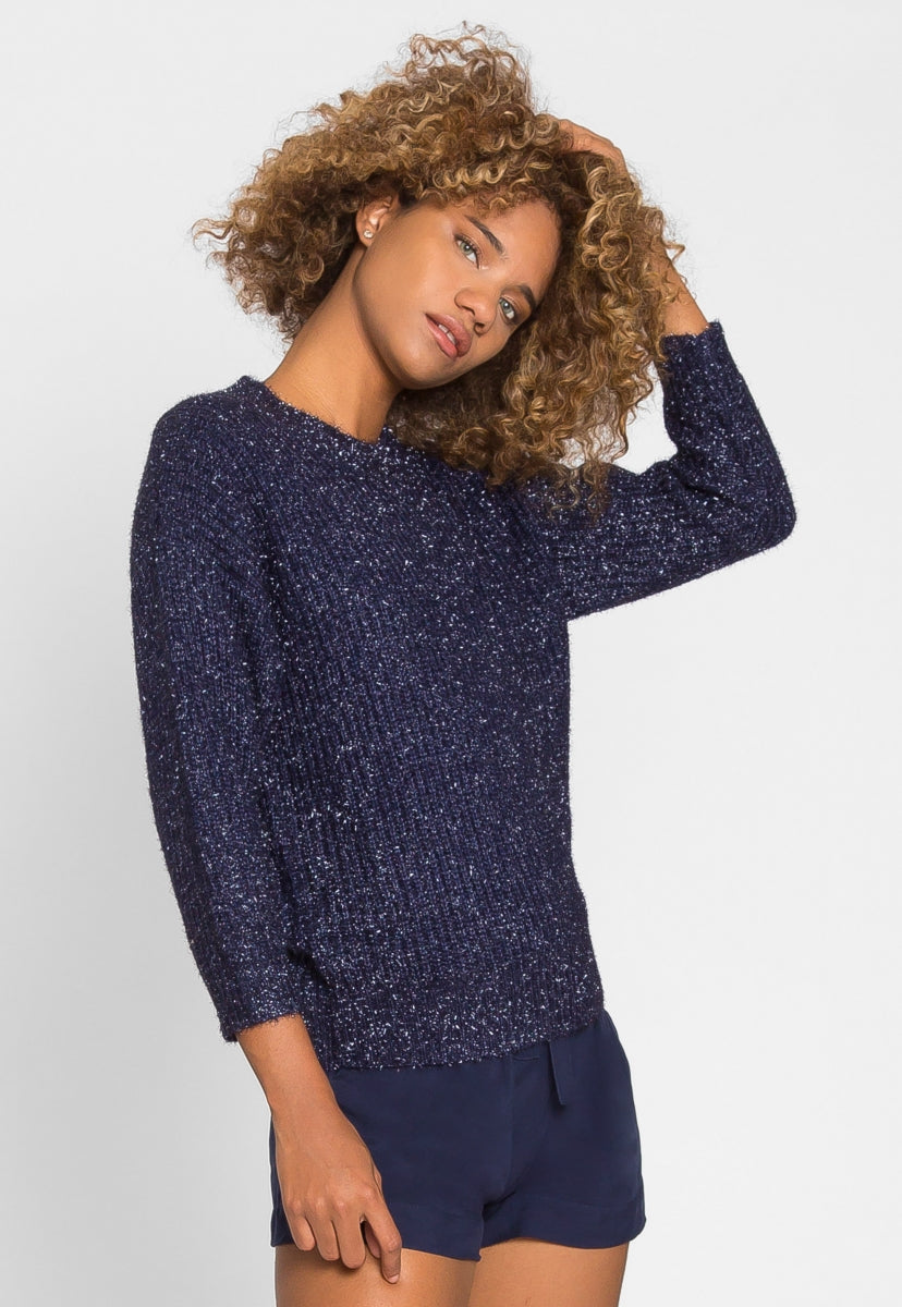 Dress You Up Tinsel Sweater - Sweaters & Sweatshirts - Wetseal