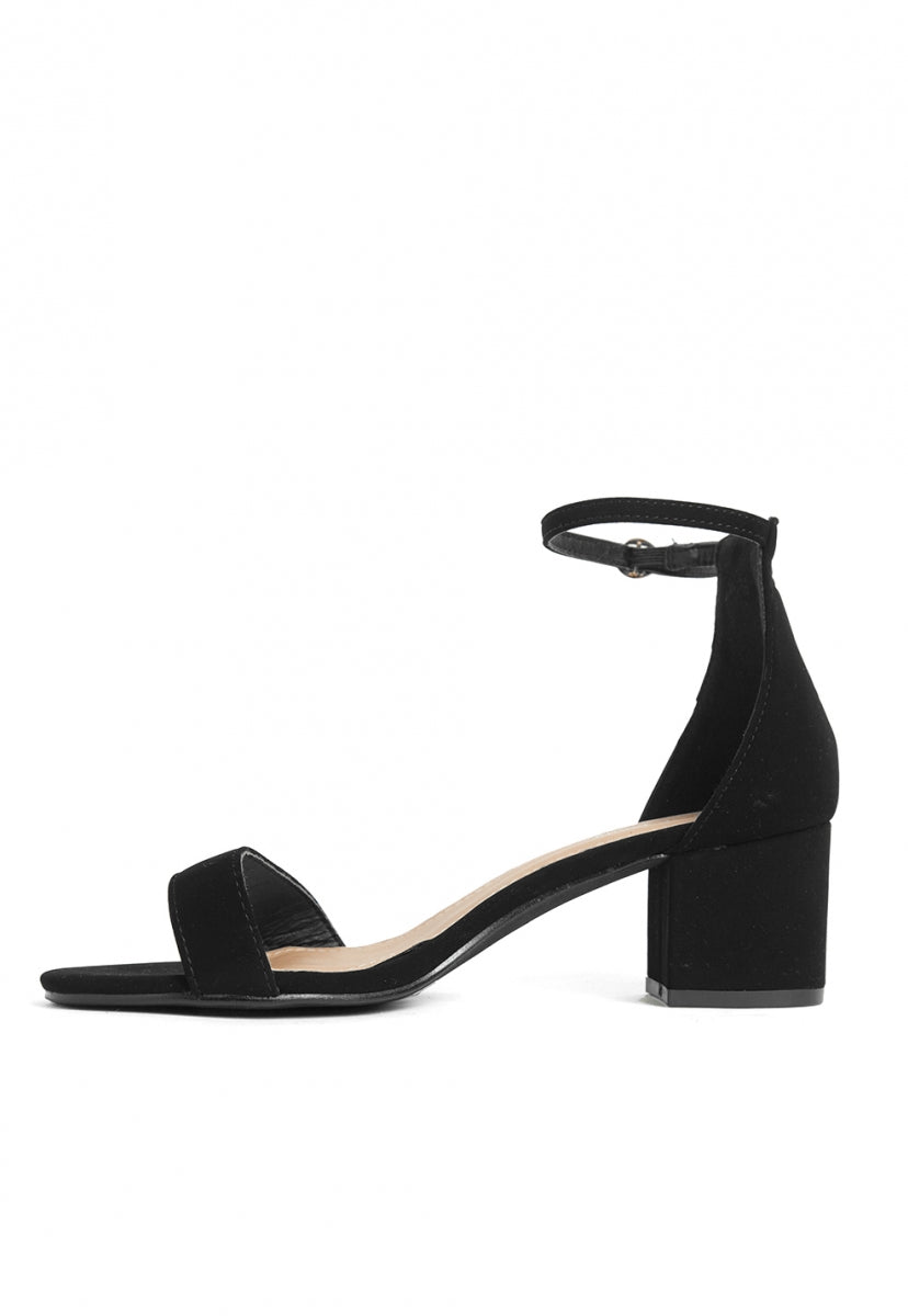 Belize Ankle Strap Heels in Black - Shoes - Wetseal