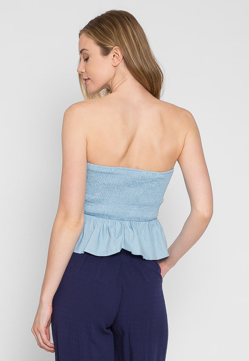 Hello Tie Front Cut Out Crop Top - Shirts & Blouses - Wetseal