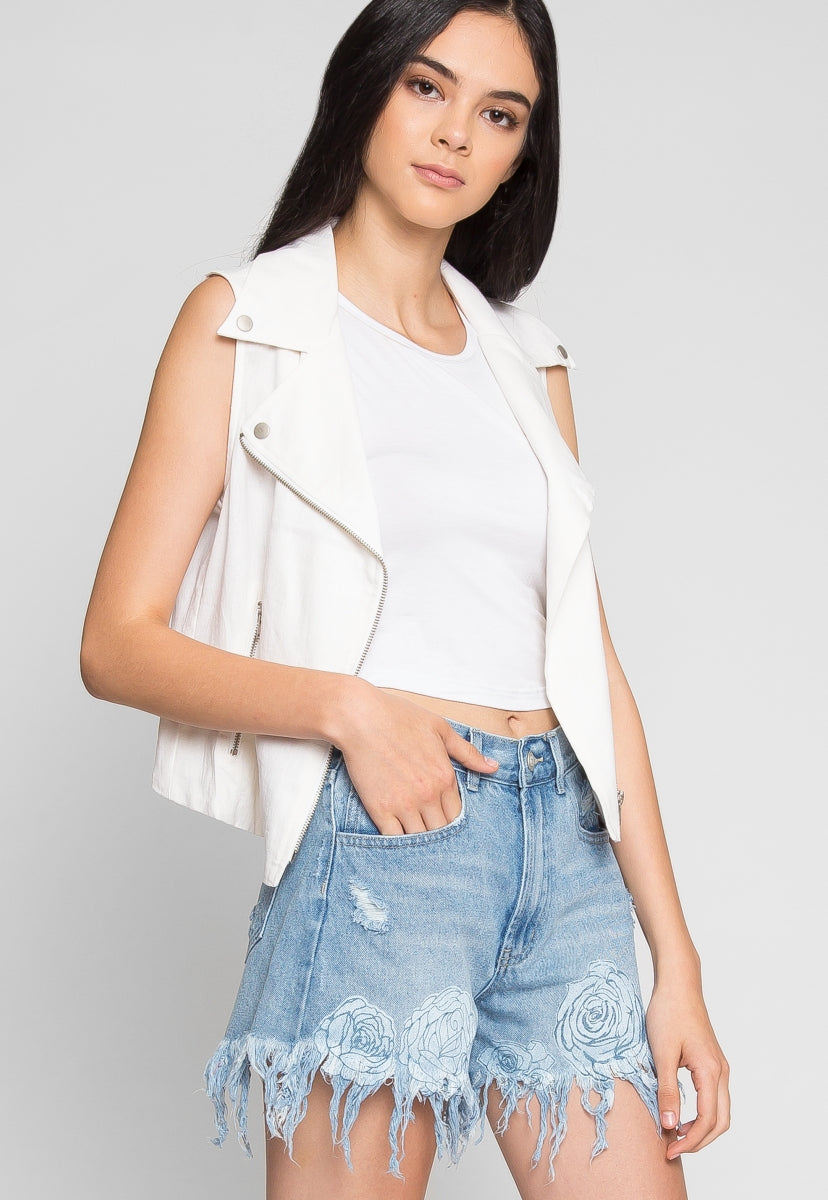 Good Vibes Mom Jean Shorts - Short - Wetseal