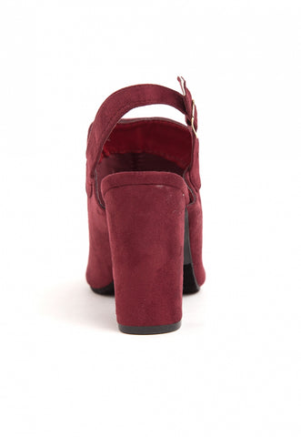 Sparrow Slingback Booties in Wine