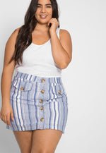 Plus Size Cali Basic Tank Top in White