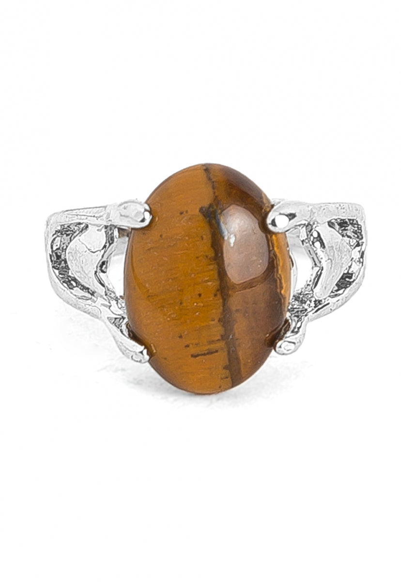 Luck Onyx Stone Ring - Jewelry - Wetseal