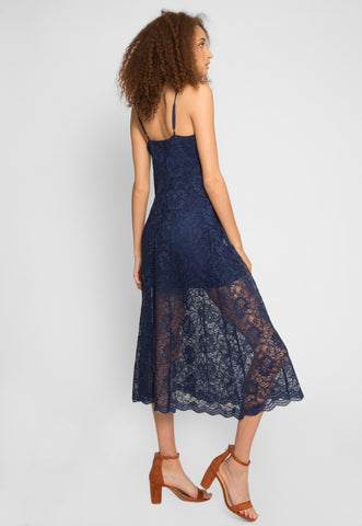 Manhattan Lace Maxi Dress in Navy