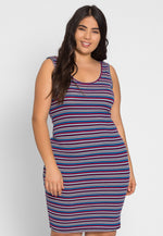 Plus Size Clueless Multi Stripe Dress
