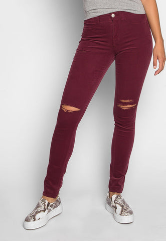 Bonfire Corduroy Pants in Burgundy