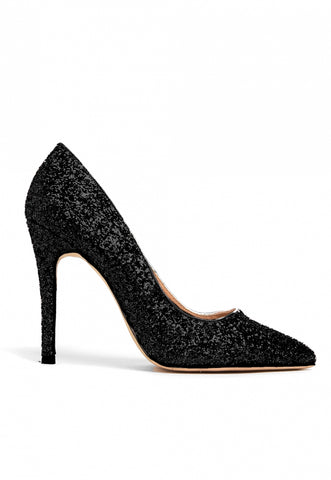 Princess Glitter Heels in Black