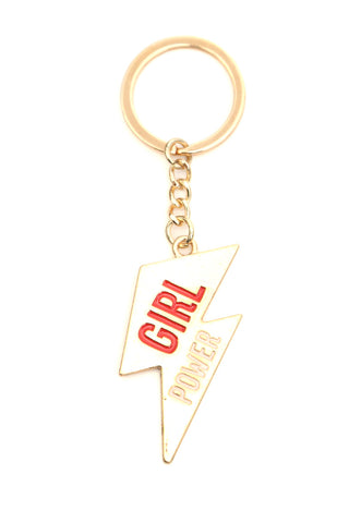 Girl Power Enamel Keyring